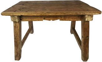 One Kings Lane Vintage 19th-C. Spanish Pine Coffee Table - Heather Cook Antiques