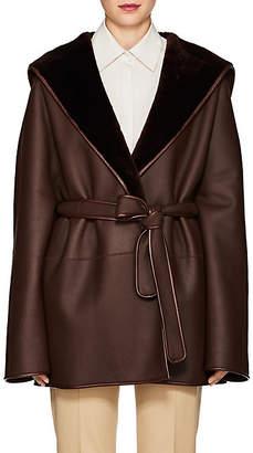 The Row Women's Sternley Shearling Coat - Dark Brown