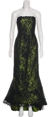 Oscar de la Renta Silk-Blend Lace Gown