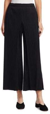 Pleats Please Issey Miyake Cropped Wide-Leg Pants