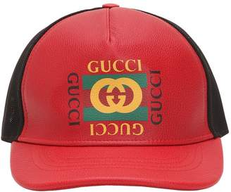 Gucci Vintage Leather Trucker Hat