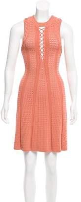 Ronny Kobo Shira Lace-Up Dress