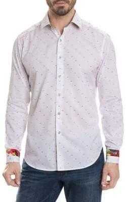 Robert Graham Karyan Regular-Fit Printed Button-Down Shirt