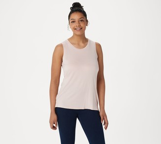 Lisa Rinna Collection Sleeveless Tank with Side Slits