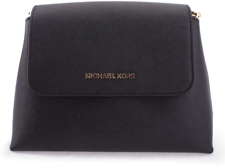 Michael Kors Black Portia Leather Satchel - BLACK - STYLE