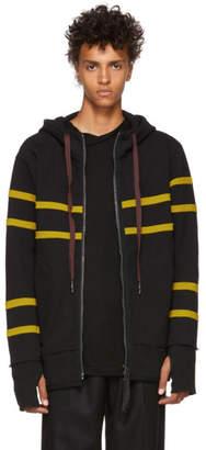 Ziggy Chen Black Striped Hoodie