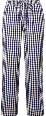 Sleepy Jones - Marina Gingham Cotton Pajama Pants - Storm blue