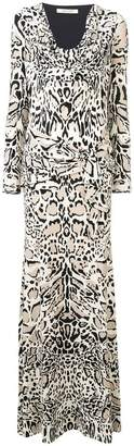 Roberto Cavalli animal print long dress