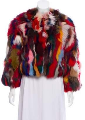 Rebecca Minkoff Rachel Fox Fur Jacket w/ Tags