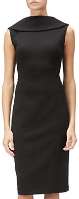 Adrianna Papell Sleeveless Roll Neck Sheath Dress, Black
