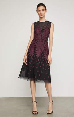 BCBGMAXAZRIA Floral Embroidered Evening Dress