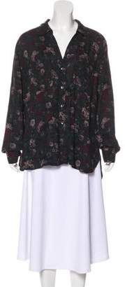 Rock & Republic Printed Button-Up Top