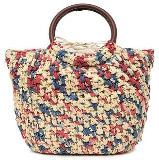 Urban Expressions Liberty Contrasting Straw Tote