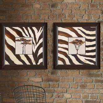 Bloomsbury Market 'Contemporary Africa I' 2 Piece Framed Print Set on Glass