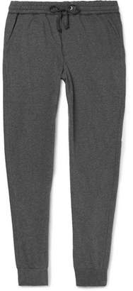 Schiesser Hugo Tapered Mélange Cotton-Jersey Sweatpants
