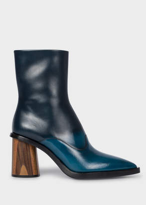 Paul Smith Women's Blue Ombre Leather 'Maura' Boots