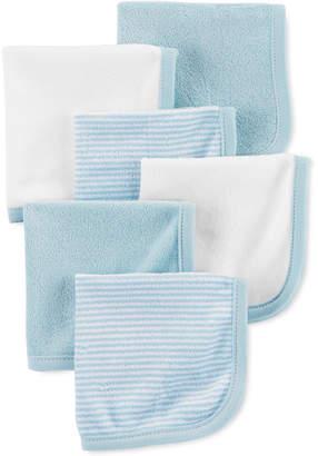 Carter's Baby Boys 6-Pk. Stripes & Solids Washcloths