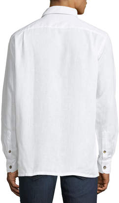 Luciano Barbera Men's Linen Sport Shirt