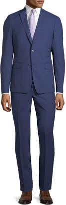Neiman Marcus Slim-Fit Two-Piece Pinstriped Wool Suit, Navy