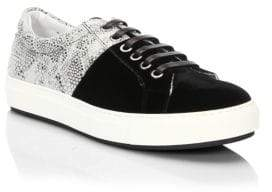 Madison Supply Snake-Print Low-Top Sneakers