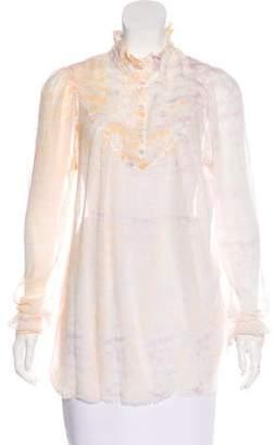 Raquel Allegra Silk Long Sleeve Top