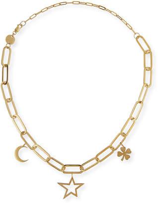 Jennifer Zeuner Jewelry Margarita Chunky Chain Charm Necklace