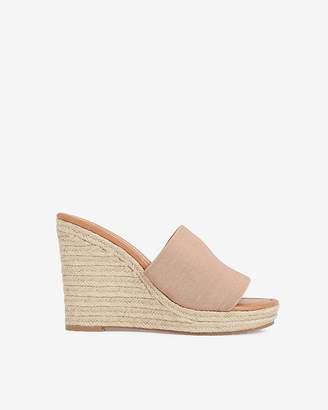 Express Stretch Slide Wedge Sandals