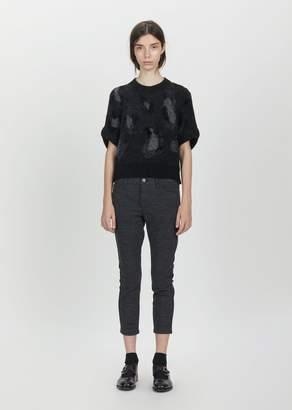 Junya Watanabe Wool Polyester Waffle Knit Pants Gray