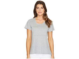 Mod-o-doc Supreme Jersey Short Sleeve Pintuck Tee Women's T Shirt