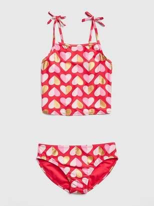 Gap Metallic Heart Swim Two-Piece