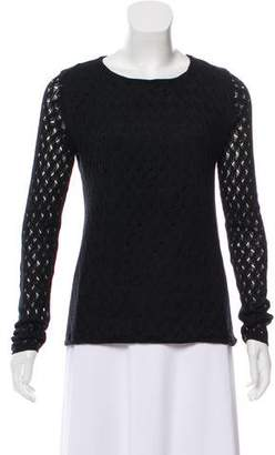 Christopher Kane Diane von Furstenberg Mendi-Bis Ladder Lace Knit Top