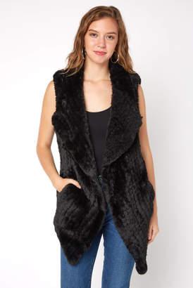Dolce Cabo Long Drape Fur Vest