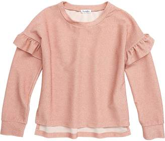 Love, Fire Ruffle Long Sleeve Top
