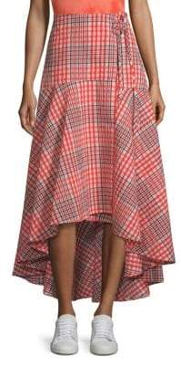 Ganni Charron Plaid Wrap Skirt
