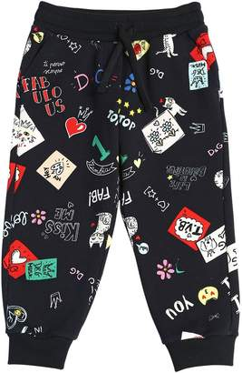 Dolce & Gabbana Doodles Printed Cotton Sweatpants