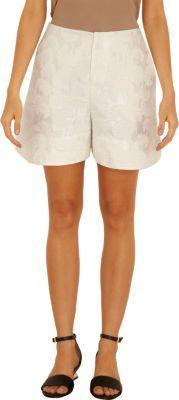Marni Floral Jacquard Curved Hem Shorts