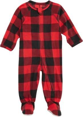 Nordstrom Plaid One-Piece Pajamas