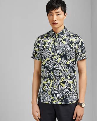 Ted Baker OCTAPSS Floral print cotton shirt