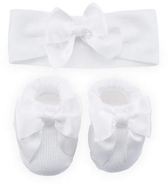 story. Loris Knit Booties and Headband Set w/ Grosgrain Bow Detail, Infant