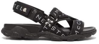 Stella McCartney Logo Sandals - Mens - Black White