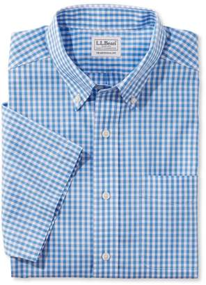 L.L. Bean L.L.Bean Men's Wrinkle-Free Vacationland Sport Shirt, Traditional Fit Short-Sleeve Gingham