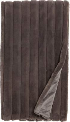 Nordstrom Sheared Stripe Faux Fur Throw