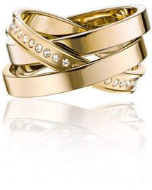 Vita Fede Cassio Pavé; Crystal Ring Set