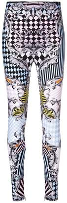 Versace patterned baroque skinny trousers
