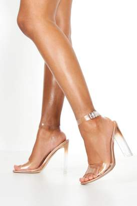 boohoo Clear Strap Flat Heel 2 Parts