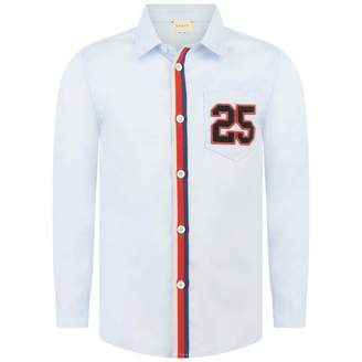 Gucci GUCCIBoys Pale Blue Long Sleeve Shirt