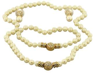 Christian Dior Faux Pearl Necklace Strand Bracelet Earrings 3 Piece Set