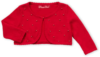 Princess Faith (Infant Girls) Pearl Front Cardigan