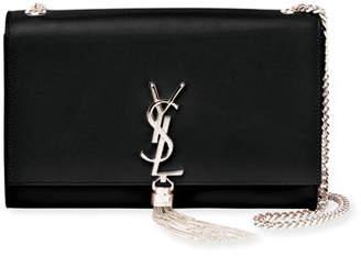 Saint Laurent Kate Monogram Smooth Leather Chain Tassel Medium Shoulder Bag