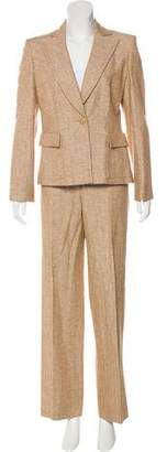 Valentino Structured Tweed Pantsuit